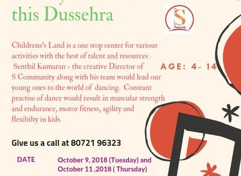 Learn some Dandiya moves for this Dussehra at Children's Land, Alwarpet