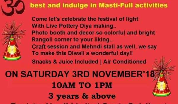 Diwali Masti at Hansel and Gretel kids on Nov 3, 2018