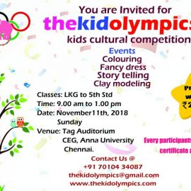 Thekidolympics, Inter-school Cultural Fest on Nov 11, 2018