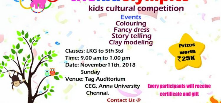 Thekidolympics, Inter-school Cultural Fest on Nov 11, 2018