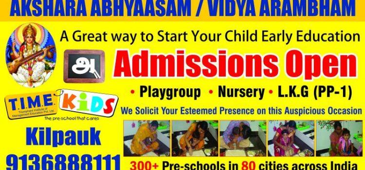 Vijayadasami Admissions Open At TimeKids Kilpauk