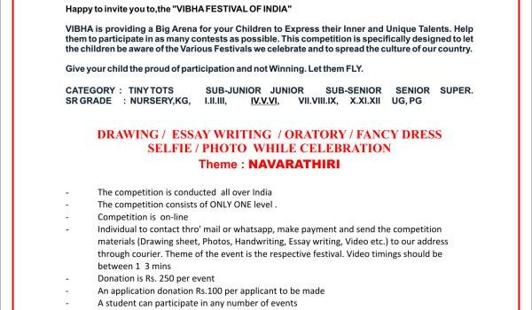 VIBHA FESTIVAL OF INDIA-2018-19 MONTH OF OCTOBER