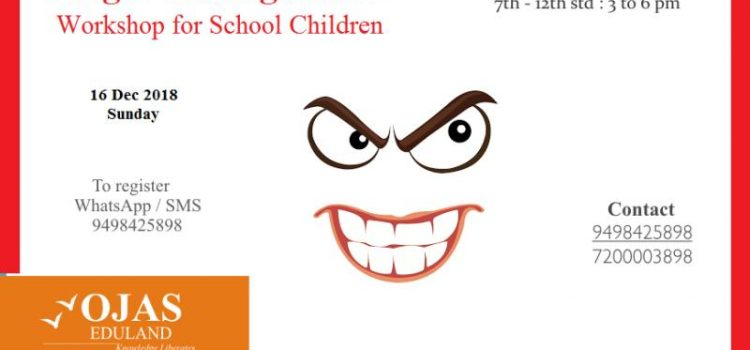 Anger Management Workshop for School Children on 16 Dec 2018