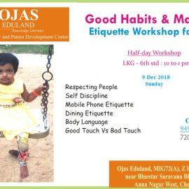 Good Habits and Manners – Etiquette Workshop for Kids on 9 Dec 2018, Sunday