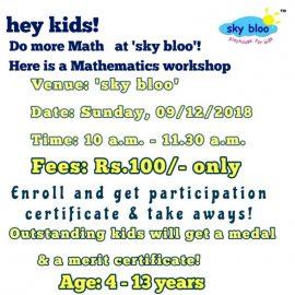 Do more Math at 'sky bloo' – Mathematics Workshop