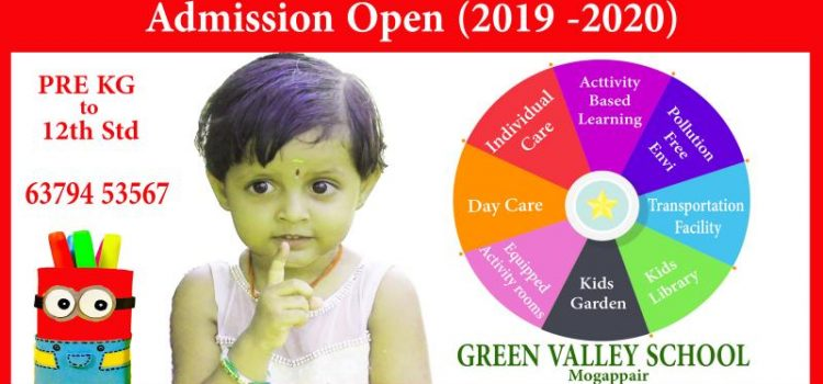 Green Valley School, Mogappair Admission Open 2019 – 2020
