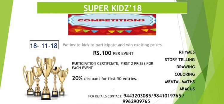 Super Kidz'18 Children's Day Competitions for Kids