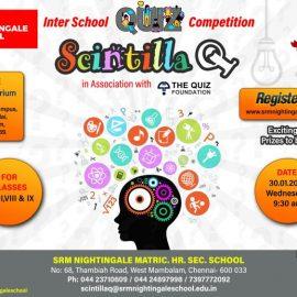 Inter School Quiz Competition at SRM Nightingale School
