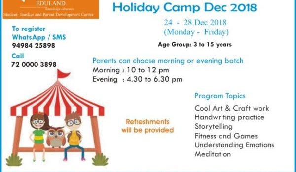 OJAS Holiday Camp Dec 2018