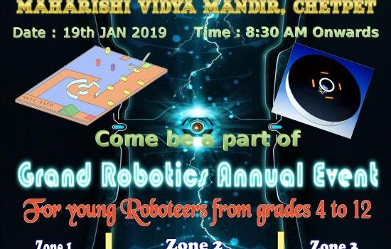 Inter-School Robotics Event – Cyberbots Robo Technologies – January 19th 2019