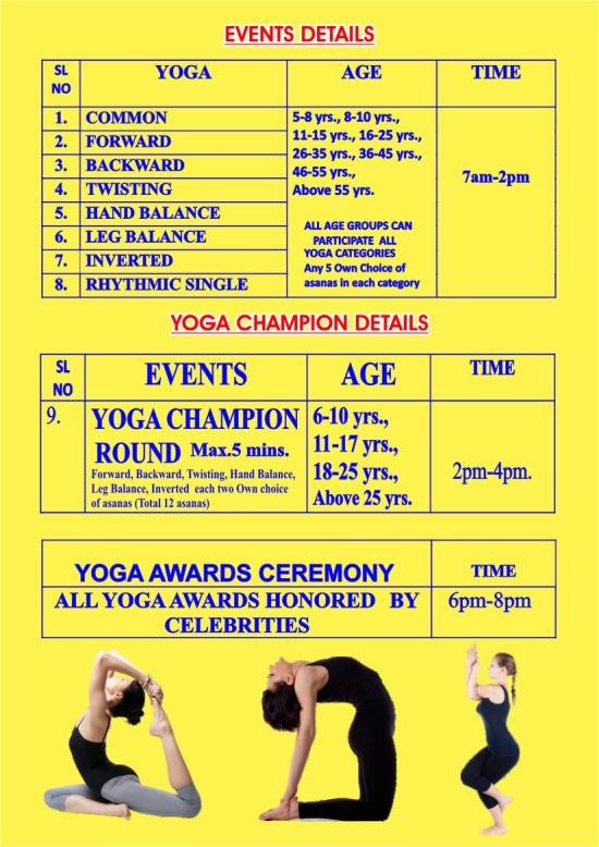 TAMILNADU YOGA FESTIVAL – 2019 – Kids Contests