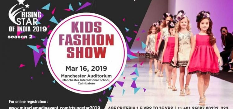 RISING STAR OF INDIA 2019 Kids Fashion Show in Coimbatore