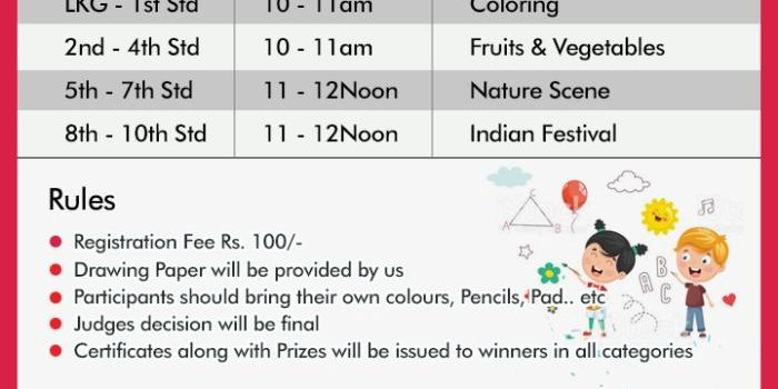 Drawing & Coloring Competition at Avadi by Art Land