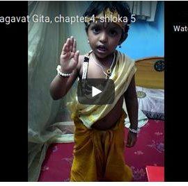 Niveditha H Mallya : 4 Years Little Talented Kid in Shlokas