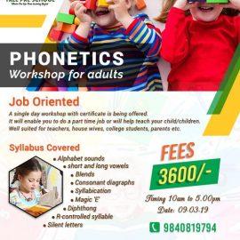 Phonetics workshop for Teachers, Parents, College Students
