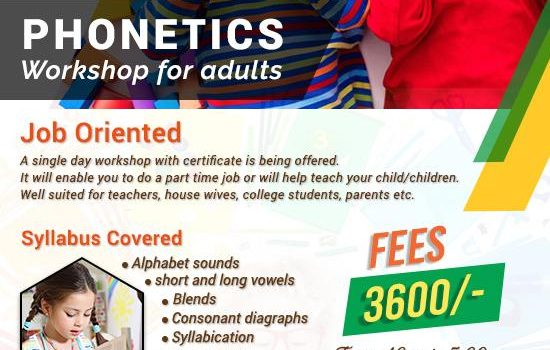 Phonetics workshop for Teachers, Parents, College Students