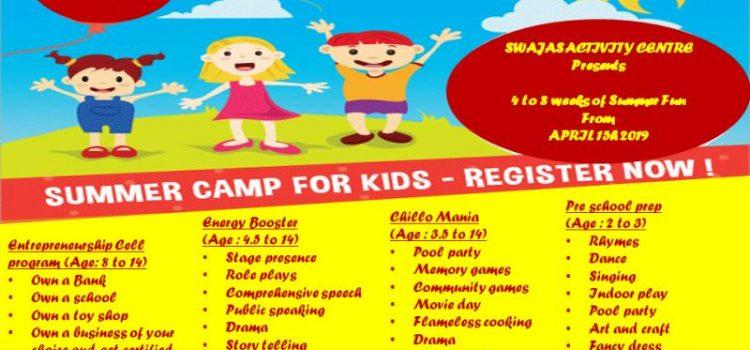 Summer camp at Swajas at Porur and Ambattur