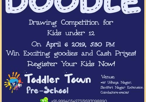 Drawing Competition at Toddler Town Preschool, Coimbatore