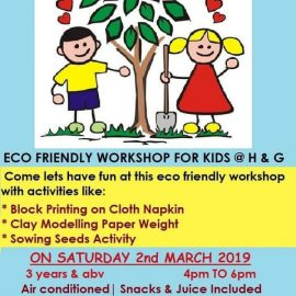 Eco friendly workshop at Hansel and Gretel kids