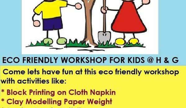 Eco friendly workshop at Hansel and Gretel kids