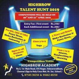 Highbrow Academy Talent Hunt 2019 Contest