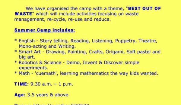 'sky bloo' Summer Camp 2019