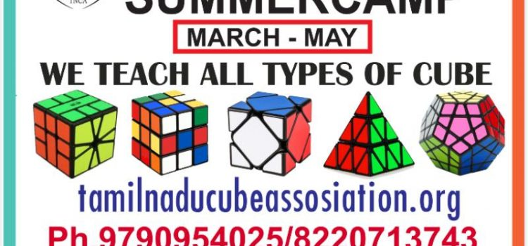 Tamil Nadu Cube Association Summer Camp for Kids
