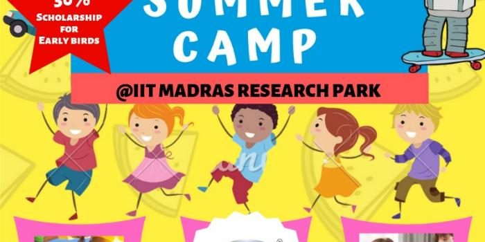 FUN-TECH Summer Camp 2019 At IIT Madras, Research Park for Kids ages 6-18