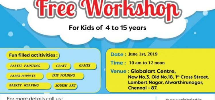 Free Workshop for Kids on June 1st, 2019
