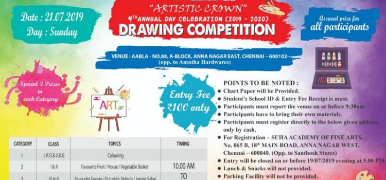 Rainbow Creative Art Academy – Drawing Competition 2019