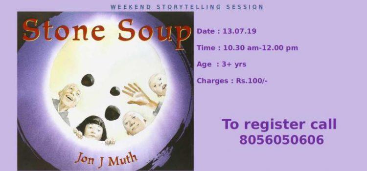 Stone Soup – Japanese folktale on 13/07/17 Weekend storytelling session