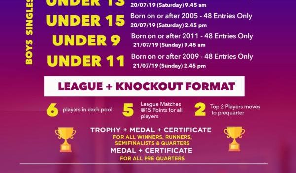 Chennai Sports & Events SUB-JUNIORS League Tournament | Badminton