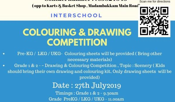 2nd Year Colouring & Drawing Competition by NANNY KIDDIES WORLD on 27th July 2019