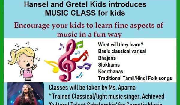 Music Classes for Kids at Hansel and Gretel T.Nagar