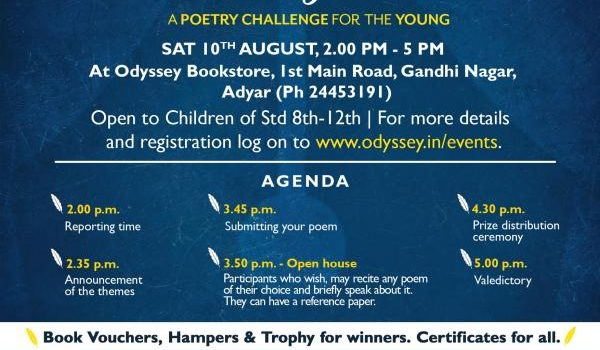 Poetry Challenge at Odyssey, Adyar