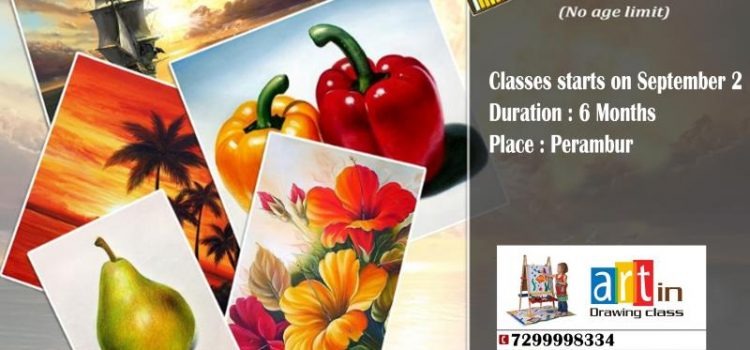 Soft pastel Classes in Artin drawing class