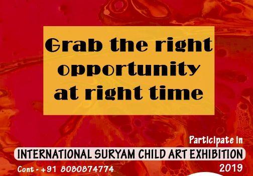 Suryam International Child Art Drawing-Painting Exhibition 2019