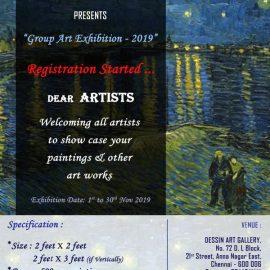 "Dessin Fine Art Trust presents ""Group Art Exhibition – 2019″"
