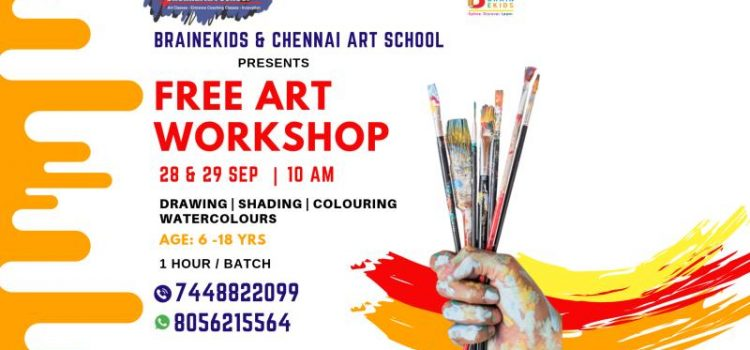 FREE ART WORKSHOP on 28 & 29 SEPTEMBER 2019