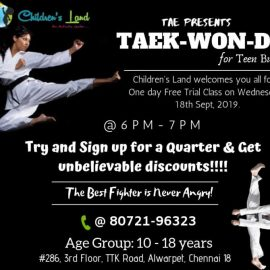 One day free introductory class for Taekwondo – Teenagers