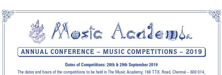 Music Academy Annual Competitions 2019 in Vocal and Instrumental Music