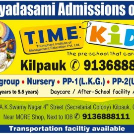 Vijayadasami Admissions Open at T.I.M.E Kids Kilpauk