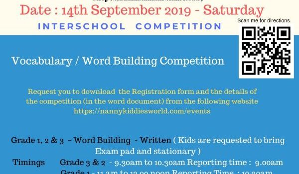 Vocabulary and Word Building Competition