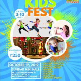 KIDS FEST – Kids Competition on 19/10/2019 @ Mugappair