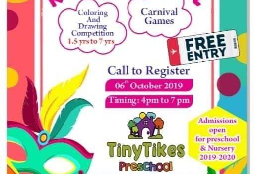 Tiny Tikes Kids Carnival on 6th October 2019