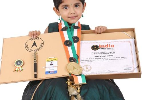 Varnika S S: 2 Year Old made it to India Book of Records (Young to recite Shlokas)