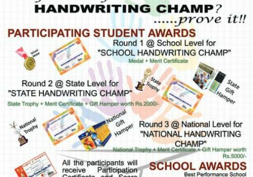 National Handwriting Competition 2019 by Ask India Society