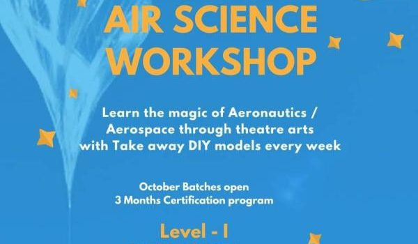 Air Science workshop at Hansel and Gretel kids from Nov 9, 2019 onward