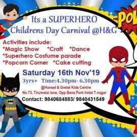 Childrens day Carnival at Hansel and Gretel kids T.nagar on Nov 16, 2019