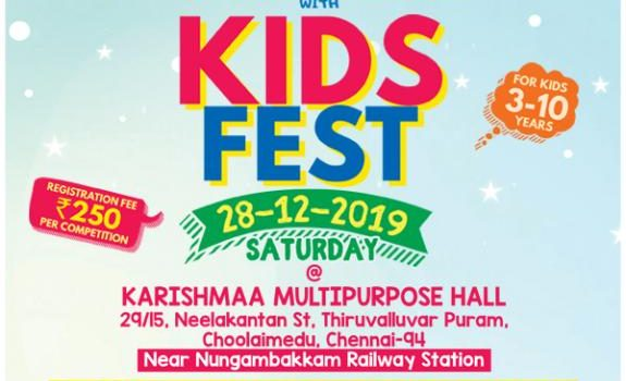 KIDS FEST – Kids Competition on 05/01/2020 @ Nungambakkam
